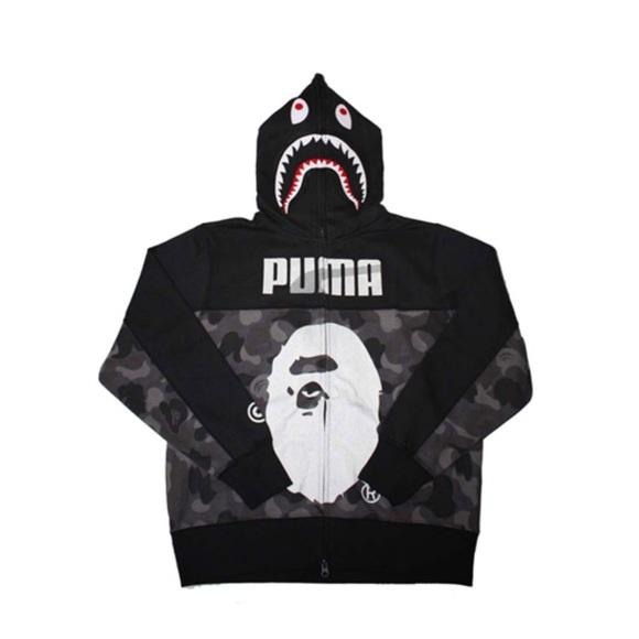 zegarek sklep sklep w Wielkiej Brytanii BAPE X PUMA zip up shark hoodie
